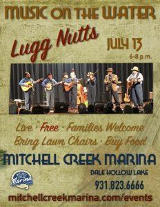The Lugg Nutts at Mitchell Creek Marina at Dale Hollow Lake July 13, 2019 at 6pm